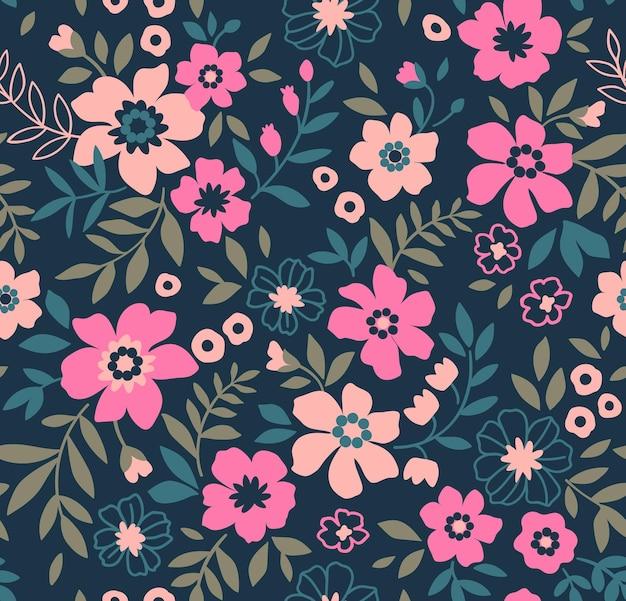 Padrão floral fofo na flor pequena