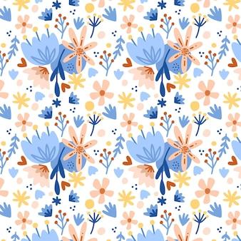Padrão floral fofo pintado à mão