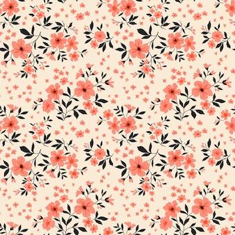 Padrão floral fofo sem emenda