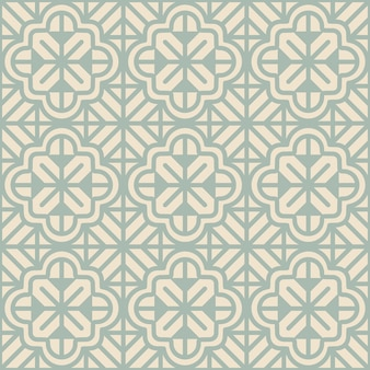 Padrão floral geométrico sem costura antigo