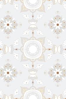Padrão floral mandala oriental Vetor grátis
