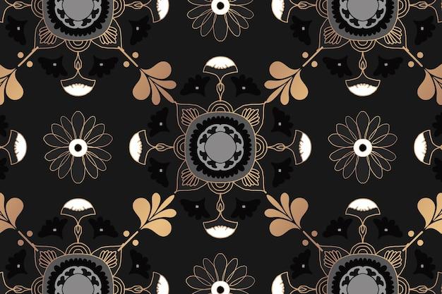Padrão floral mandala oriental