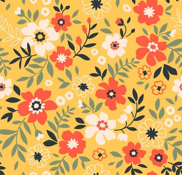 Padrão floral moderno sem costura