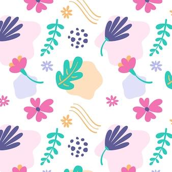 Padrão floral muito abstrato
