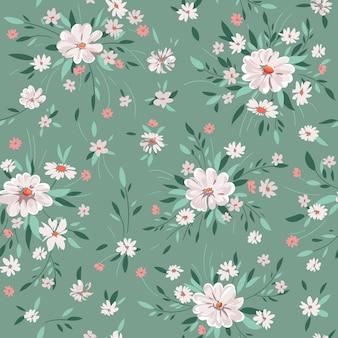 Padrão floral primavera sem costura com margaridas