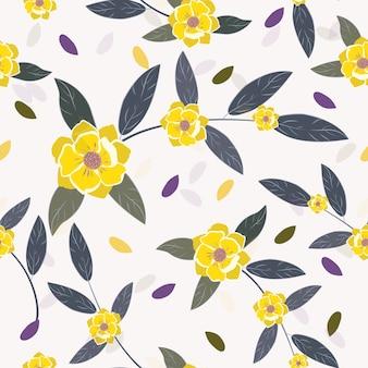 Padrão floral primavera sem emenda