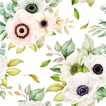 Padrão floral romântico sem costura