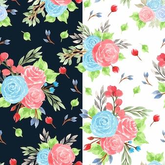 Padrão floral sem costura colorida com flores