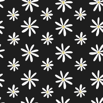 Padrão floral sem costura com camomila