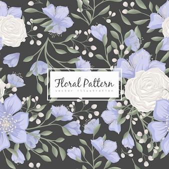 Padrão floral sem costura com rosas