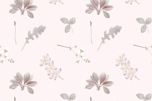 Padrão floral sem costura em fundo cinza