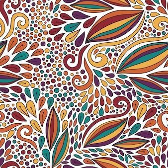 Padrão floral sem costura. ornamento moderno do doodle brilhante. impressão em têxteis ou design de embalagem