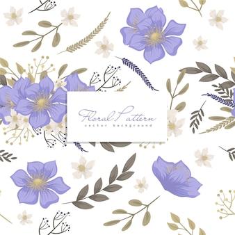 Padrão floral sem costura Vetor Premium