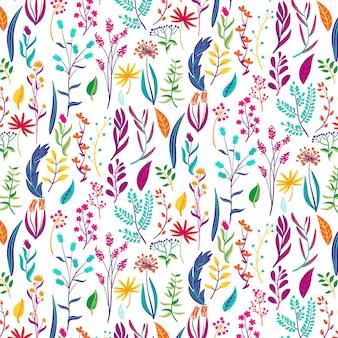 Padrão floral tropical colorido