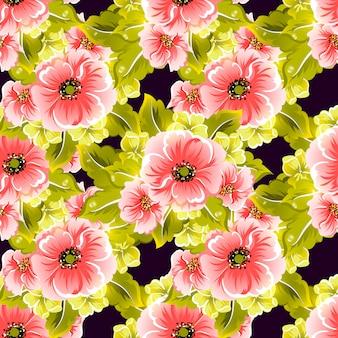 Padrão floral vetor sem emenda