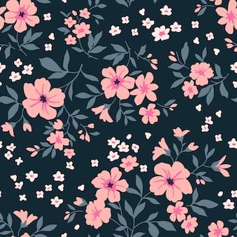 Padrão floral vintage sem costura