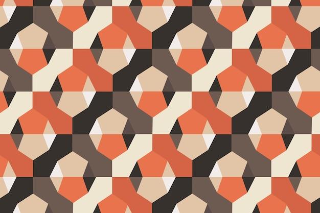 Padrão geométrico 3d moderno vetor fundo laranja