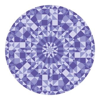 Padrão geométrico abstrato de baixo poli caleidoscópio. Vetor Premium