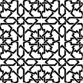 Padrão geométrico árabe sem costura