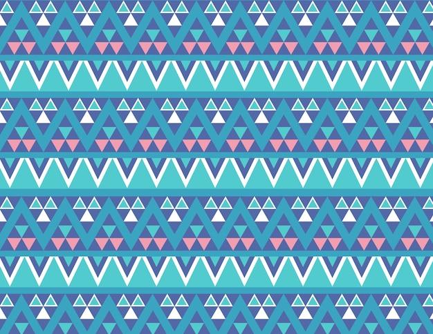 Padrão geométrico colorido azul para tecido na moda 2