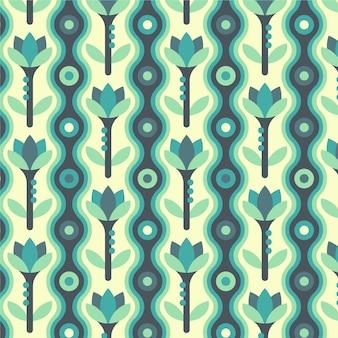 Padrão geométrico colorido e moderno