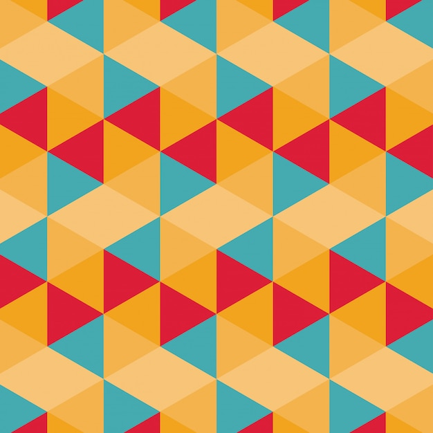 Padrão geométrico colorido