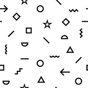Padrão geométrico com formas de hipster.