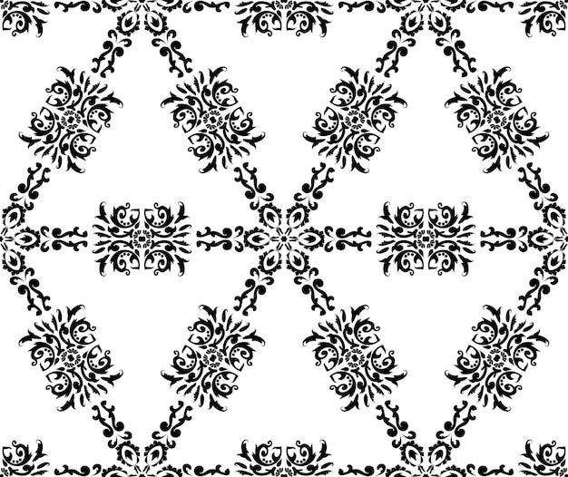 Padrão geométrico com ornamento textura sem costura estampada decorativa em preto e branco