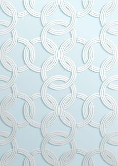 Padrão geométrico de arte de papel