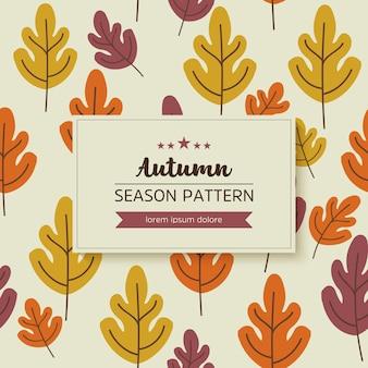 Padrão geométrico de folhas de outono e galhos