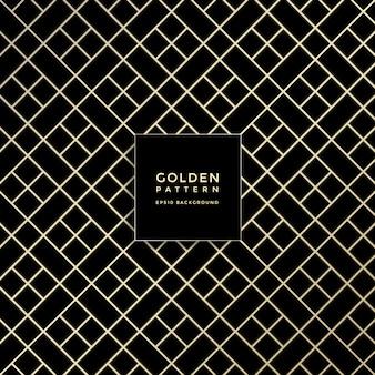 Padrão geométrico de luxo dourado, fundo abstrato