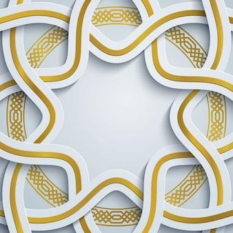 Padrão geométrico de marrocos - ornamento árabe de círculo