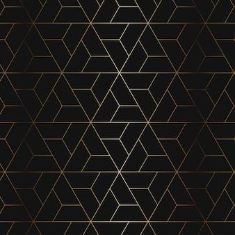 Padrão geométrico dourado