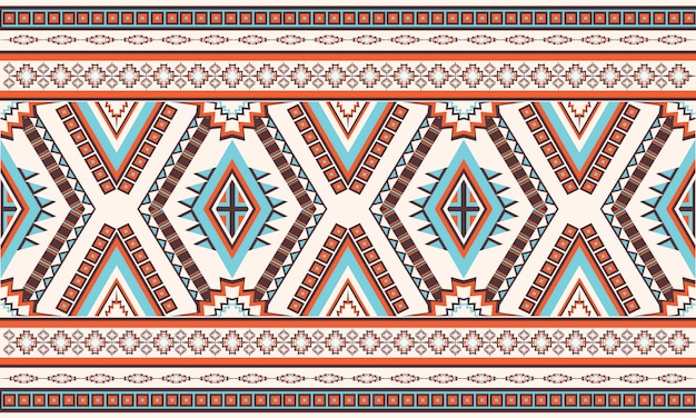Padrão geométrico étnico oriental. padrão sem emenda