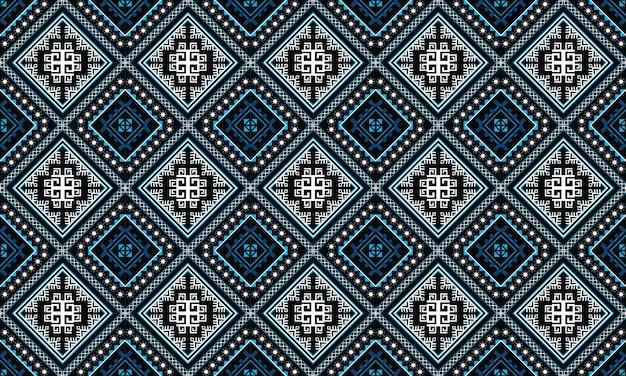 Padrão geométrico étnico oriental sem costura tradicional design para plano de fundo, tapete, papel de parede, roupas, embrulho, batik, tecido, estilo de illustration.embroidery do vetor. Vetor Premium