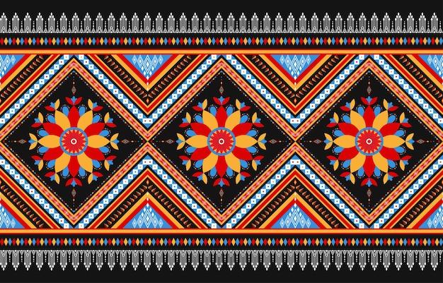 Padrão geométrico étnico oriental sem costura tradicional