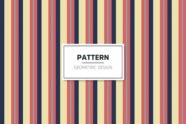 Padrão geométrico linear colorido sem costura