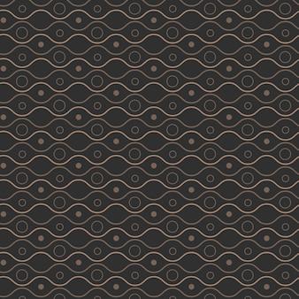 Padrão geométrico ondulado sem costura