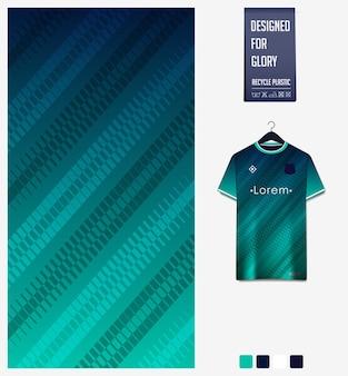Padrão geométrico para camisa de futebol