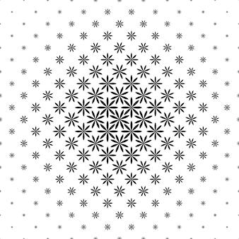Padrão geométrico preto e branco - ilustração abstrata de fundo a partir de formas curvas