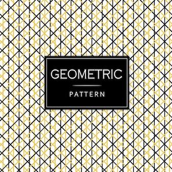 Padrão geométrico preto e dourado de Memphis