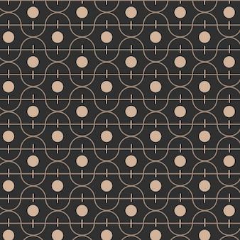 Padrão geométrico preto sem costura