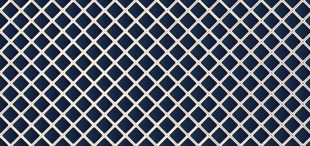Padrão geométrico quadrado azul com linha dourada