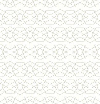 Padrão geométrico sem costura baseado em ornamento islâmico tradicional