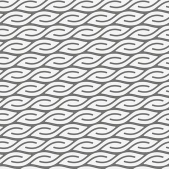 Padrão geométrico sem costura com formas de folhas