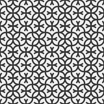 Padrão geométrico sem costura com linha ornamental