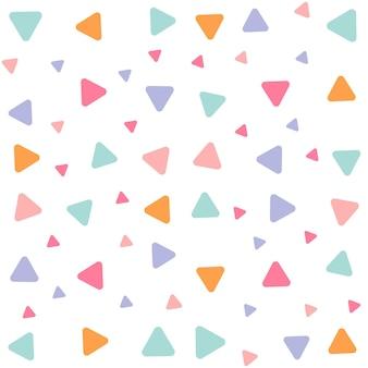Padrão geométrico sem costura com triângulos, padrão sem emenda com fundo de triângulos coloridos