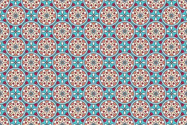 Padrão geométrico sem costura, elemento de círculo
