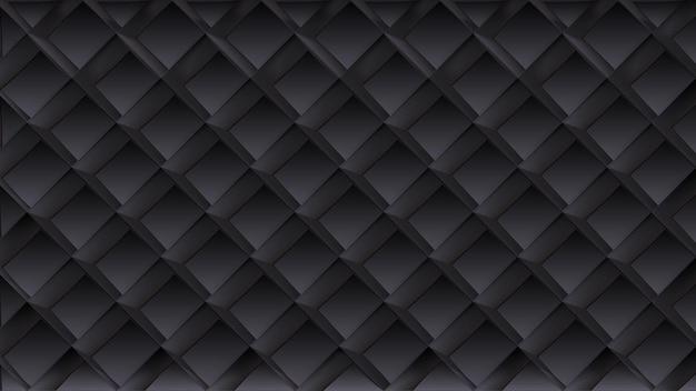 Padrão geométrico sem costura na cor preta.