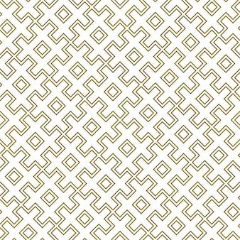 Padrão geométrico sem emenda linhas contornadas ornamento tradicional